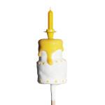 Premium Pop, Torte mit Kerze gelb – EUR 4,40.-